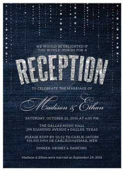 Small Of Wedding Reception Invitations