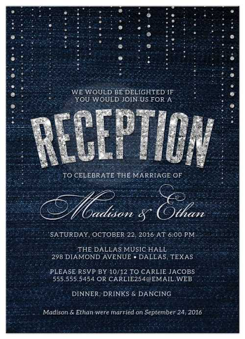 Medium Of Wedding Reception Invitations