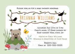 Small Of Woodland Baby Shower Invitations