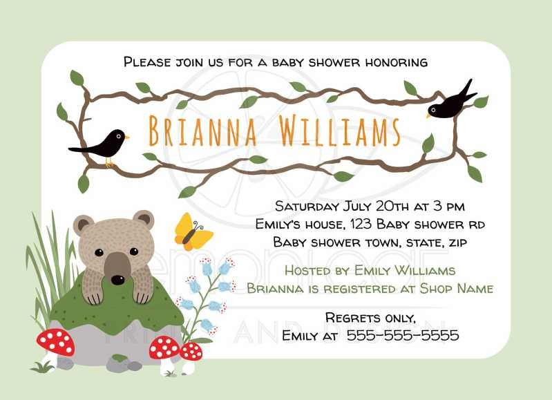 Large Of Woodland Baby Shower Invitations
