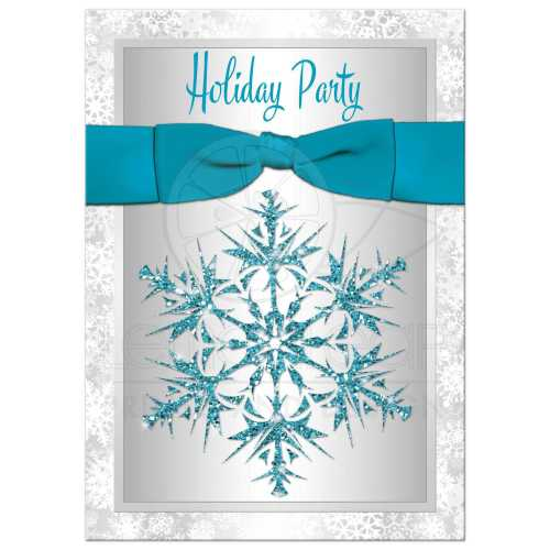 Garage Snowflakes Winter Or Party Invitation Holiday Party Invitation Simulated Holiday Party Invitations Online Holiday Party Invitations Wording Silver