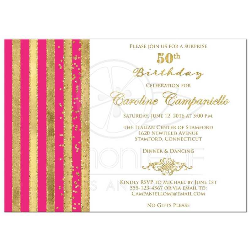 Large Of 50th Birthday Invitations