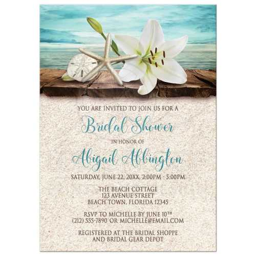 Medium Crop Of Bridal Shower Invitation Wording