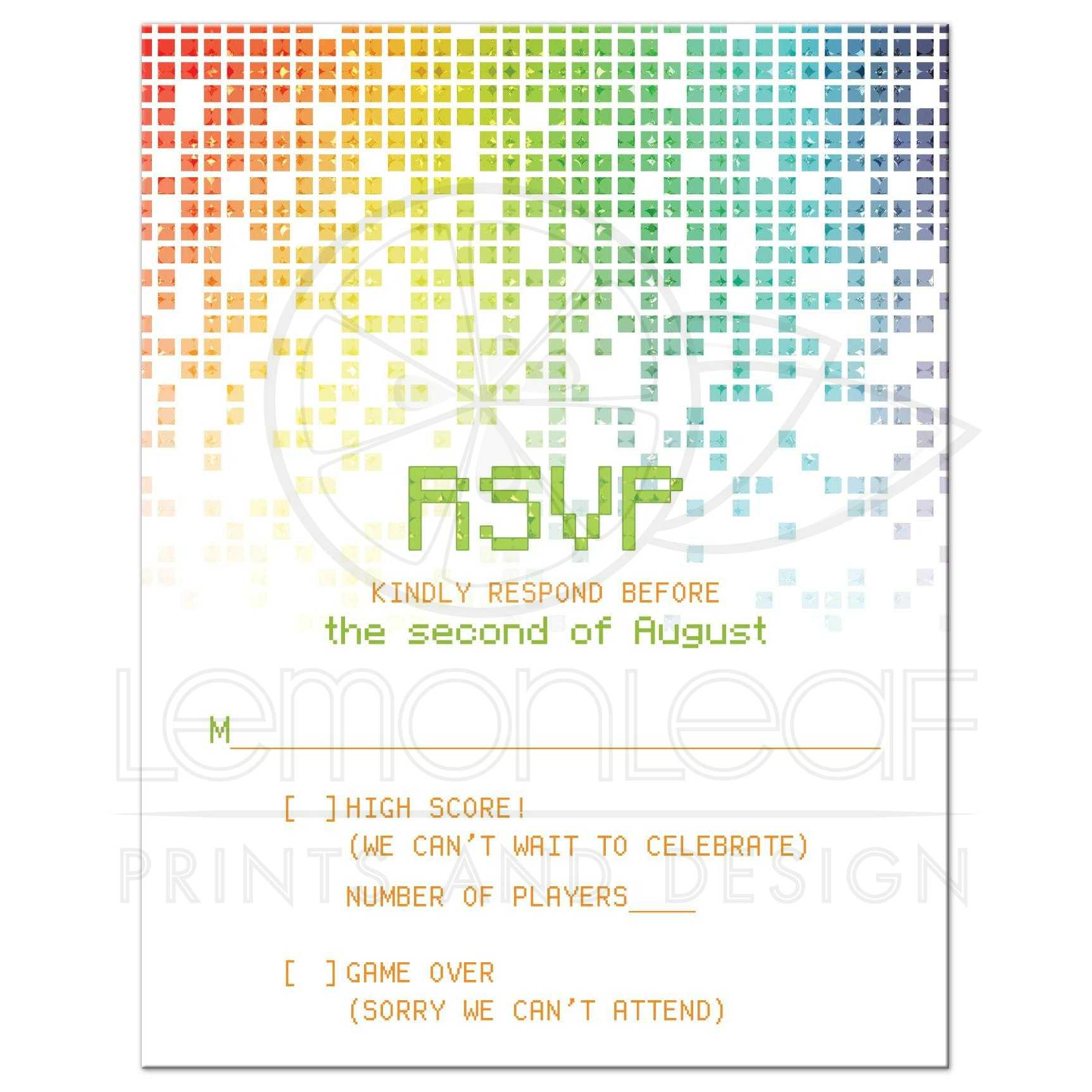 Fullsize Of Rsvp Card Size