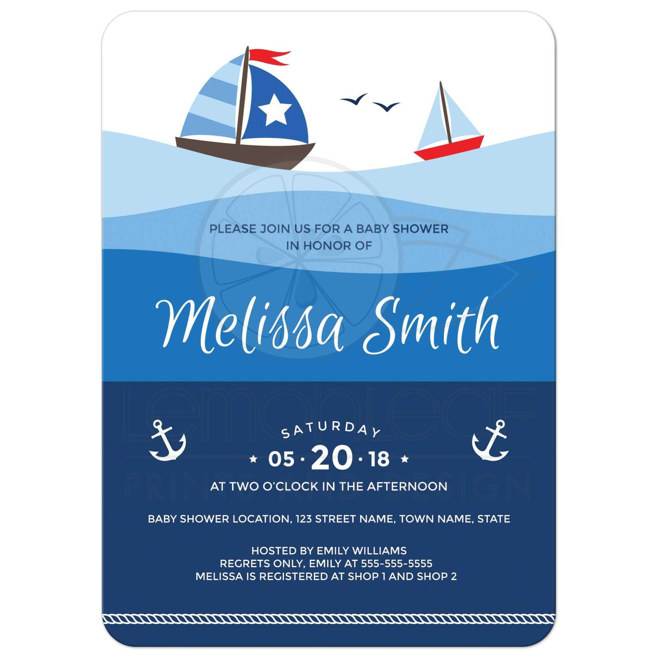Fullsize Of Nautical Baby Shower Invitations