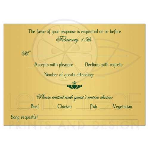 Assorted Green Intricate Celtic Wedding Rsvp Card G Floral Claddagh Rsvp Card Wedding Wording Ny Wedding Rsvp Cards G Irish Or Celtic Wedding Rsvp Enclosure Card Insert Withg Claddagh