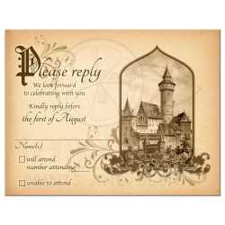 Terrific Vintage Medieval Castle Fairy Tale Once Upon A Time Rsvp Card Fairy Tale Castle Wedding Rsvp Card Medieval Once Upon A Time Wedding Rsvp Cards Template Wedding Rsvp Cards Vistaprint