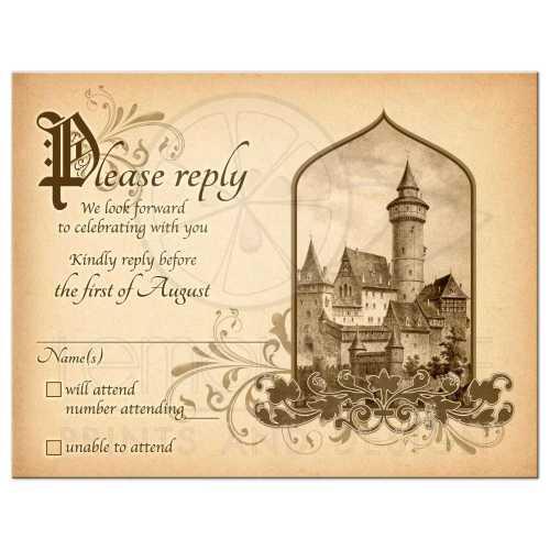 Terrific Vintage Medieval Castle Fairy Tale Once Upon A Time Rsvp Card Fairy Tale Castle Wedding Rsvp Card Medieval Once Upon A Time Wedding Rsvp Cards Template Wedding Rsvp Cards Vistaprint