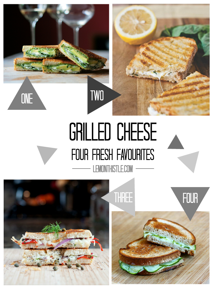 Four Fresh Grilled Cheese - lemonthistle.com