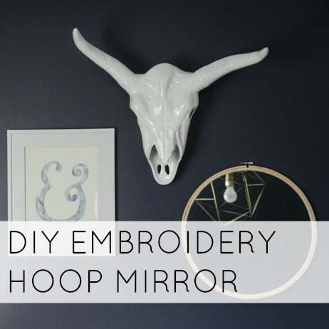 DIY Embroidery Hoop Mirror
