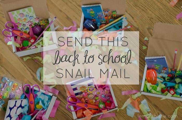 Send some back to school mail - lemonthistle.com