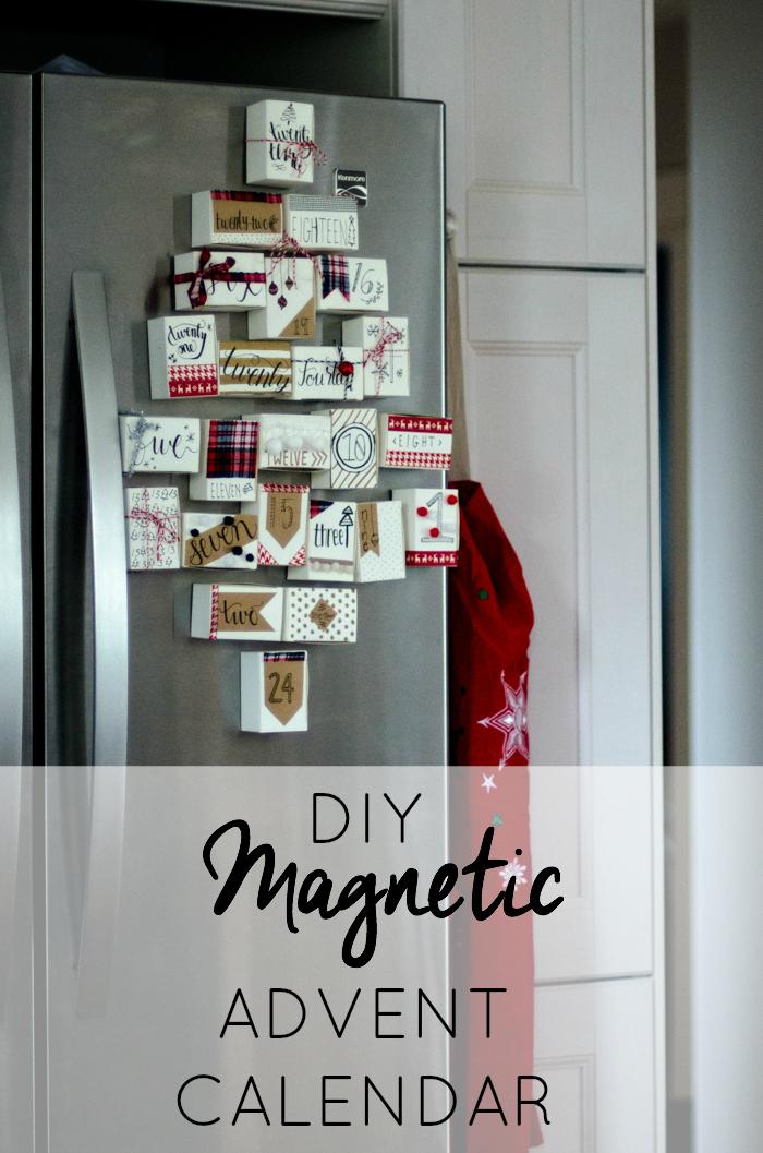 Diy Magnetic Calendar : Diy magnetic advent calendar lemon thistle