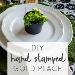 DIY Hand Stamped Gold Place Markers
