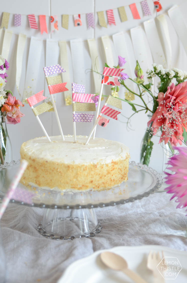 DIY Party Decor made with washi tape! So simple.
