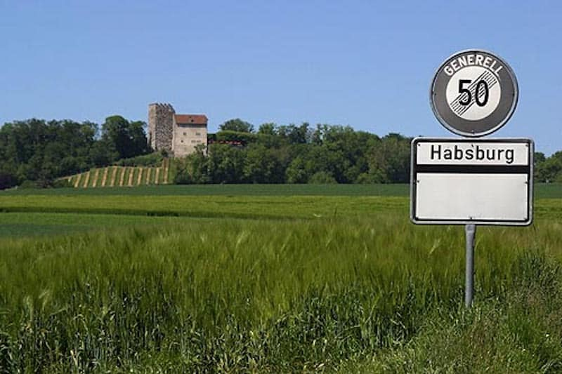 The town of Habsburg in Aarau Switzerland - Source: Wikipedia - Picswiss.ch