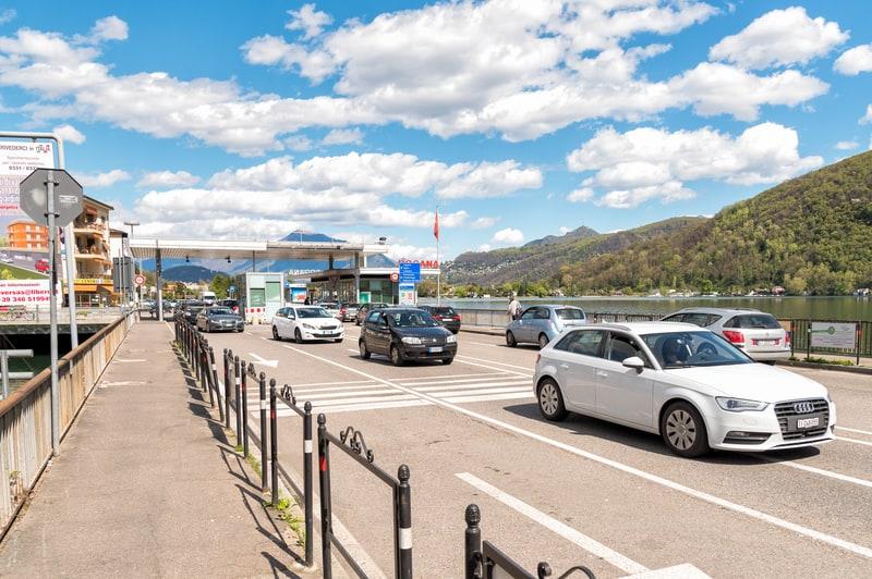 Italian Swiss border post