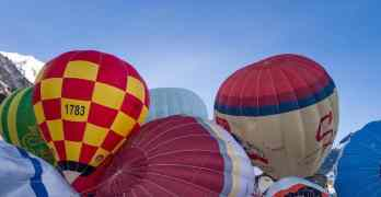 Chateau d'Oex balloon festival starts this Saturday