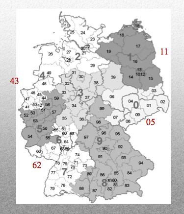 Codes Postaux Allemagne