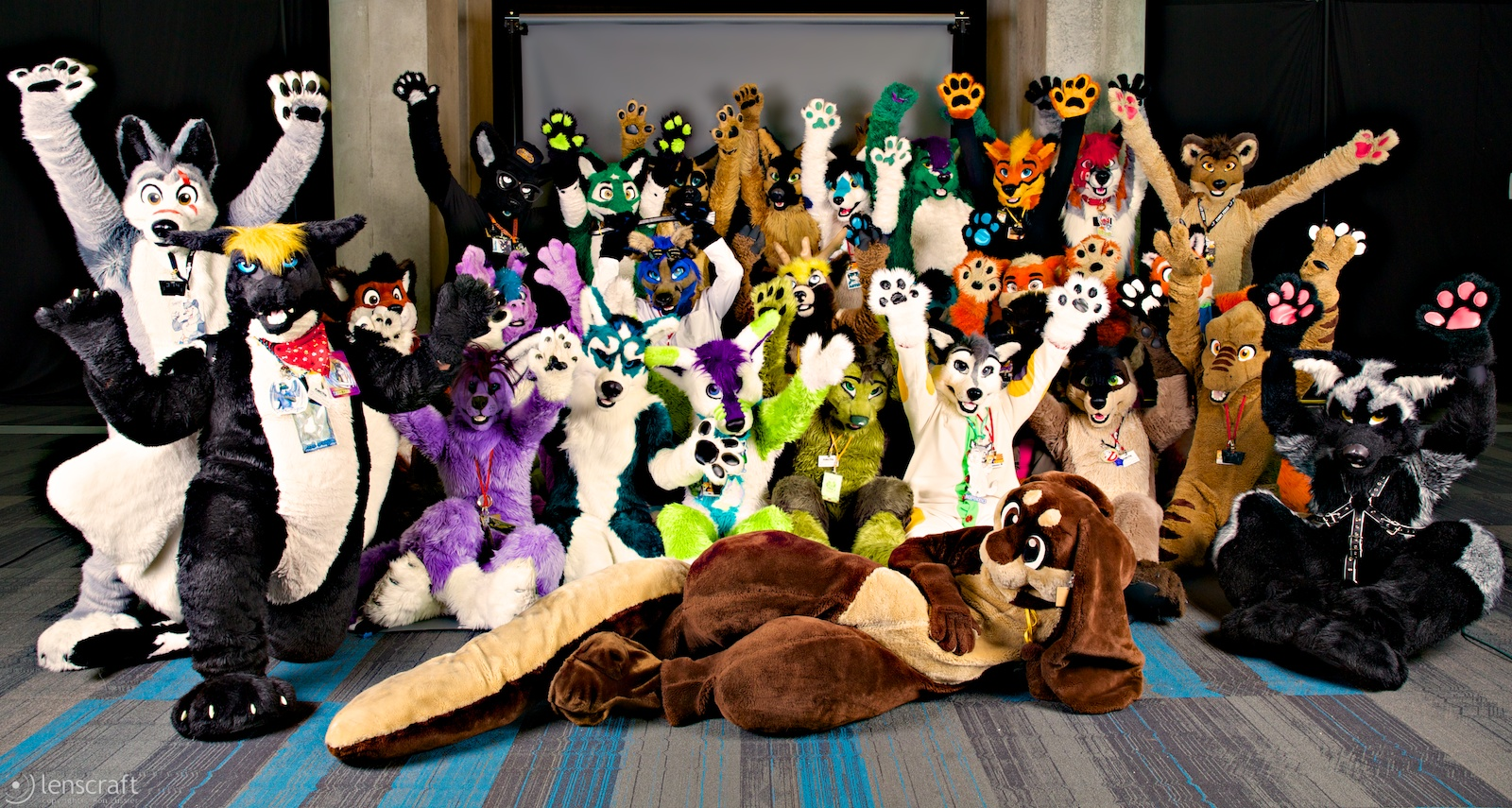 On the Party Floor at the Furry Con