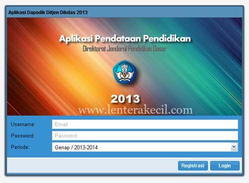 aplikasi dapodik 2013