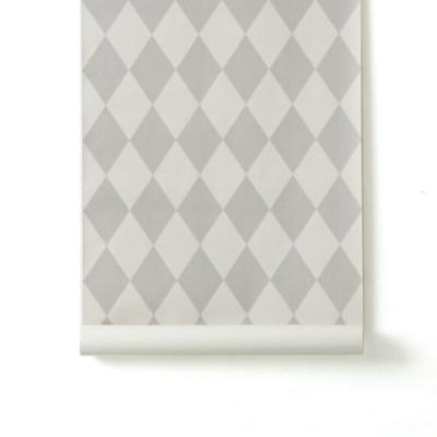 Leo & Bella | ferm LIVING Wall Paper Harlequin Grey