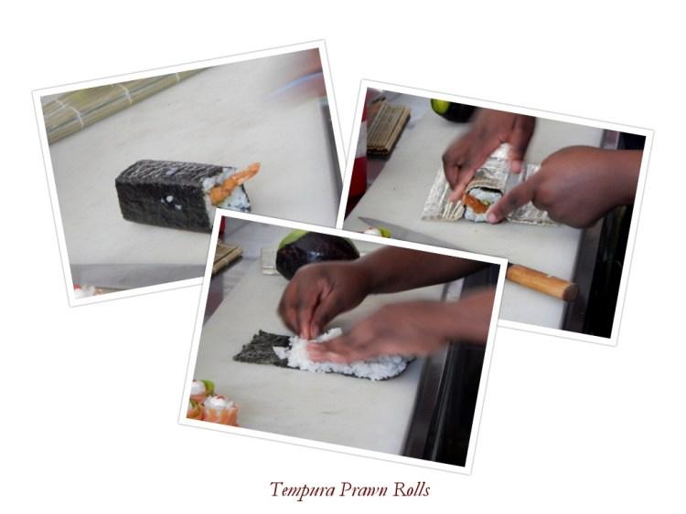 tempura prawn rolls