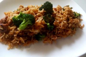 broccoli and sausage fried rice