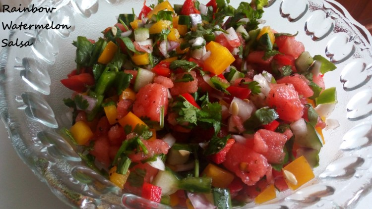 rainbow watermelon salsa