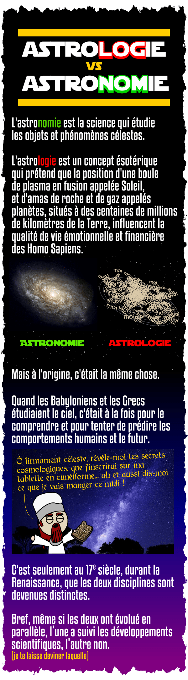 astrologie vs astronomie