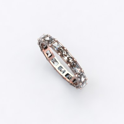 alliance-tour-complet-diamants-taille-+emeraude-0.10cts-or-rose-0