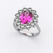 bague-entourage-marguerite-or-blanc-diamants-saphire-rose-0