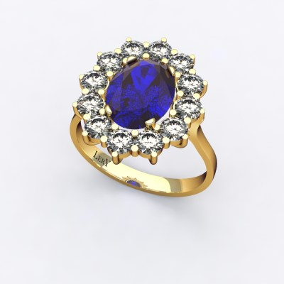bague-entourage-marguerite-or-jaune-diamants-saphir-0