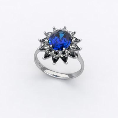 bague-entourage-sienna-poire-diamant-saphir-ovale