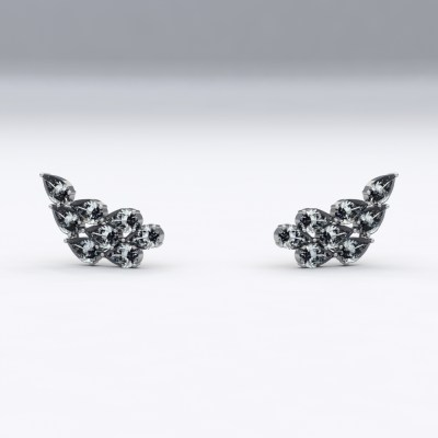 Boucles d'oreilles Sienna Or Blanc Diamants