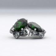 boucles-d-oreilles-or blanc-sienna-joaillerie-diamant-poire-emeraude-oval-2