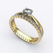 solitaire-mousquetaire-or-jaune-0.30-carats-alliance-diamants-ronds-1.5mm-0