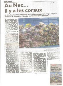 Notre Aquarium Récifal mis à l'honneur dans la presse