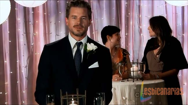 Mark brindando en la boda de Callie y Arizona