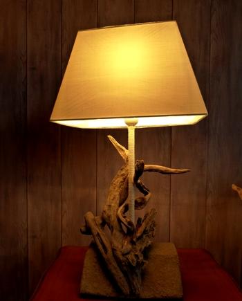 lampe bois flotte cap ferret anguilla