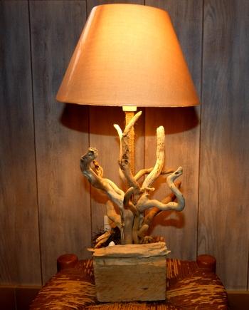 lampe bois flotte cap ferret ferrilasta