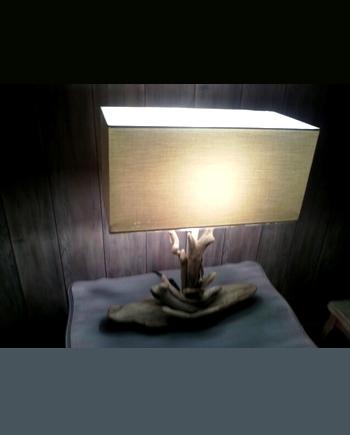 lampe bois flotte cap ferret zenia