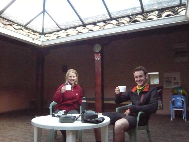 Petit café dans notre patio