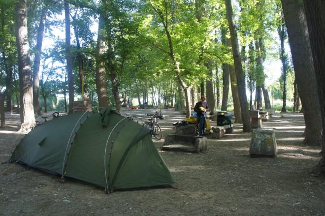 Petit barbecue dans le camping municipal d'Uspallata