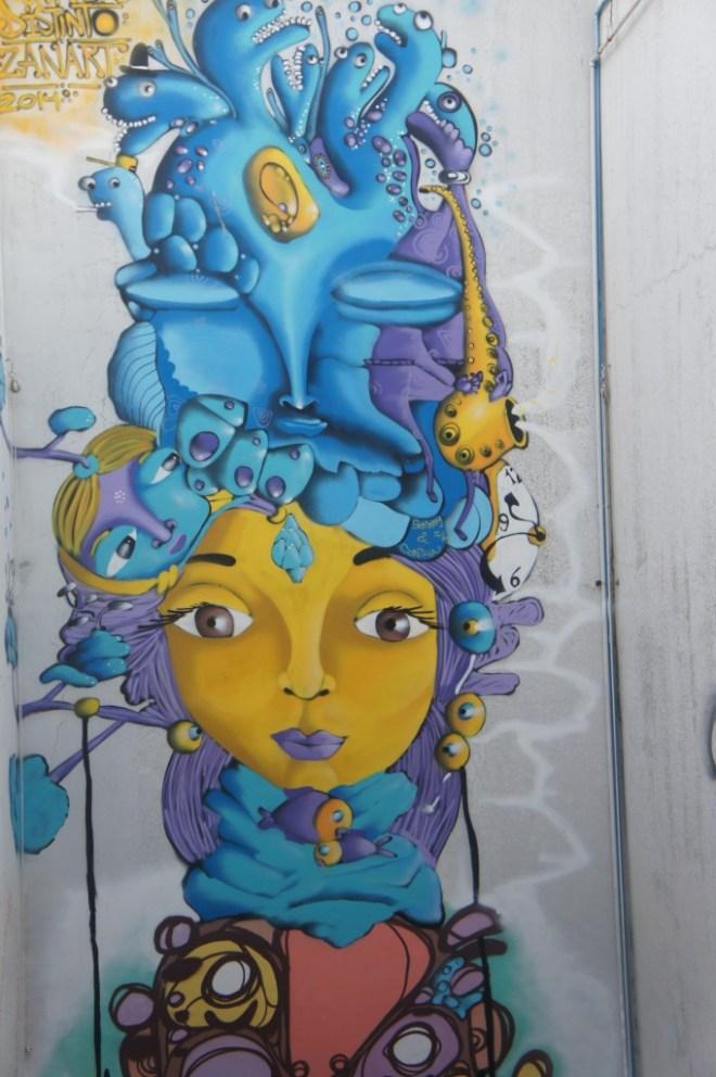 Echantillon d'un mur de la ville des artistes