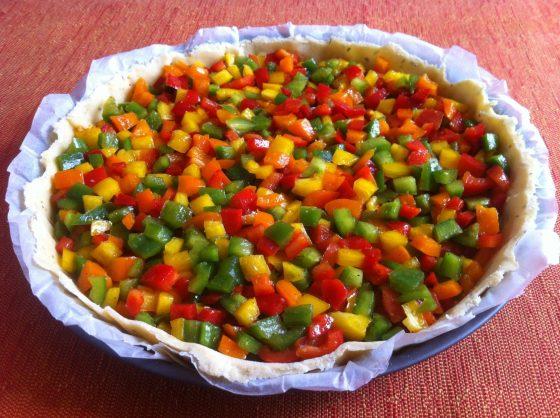 La tarte Arlequin ou la tarte aux quatre poivrons
