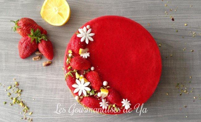 {Concours} Tarte fraise, citron et pistache