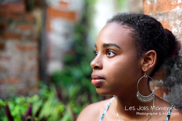 portrait jeune fille antillaise