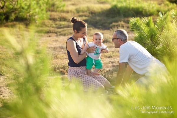 Seance en famille avec bebe dans les Landes 34