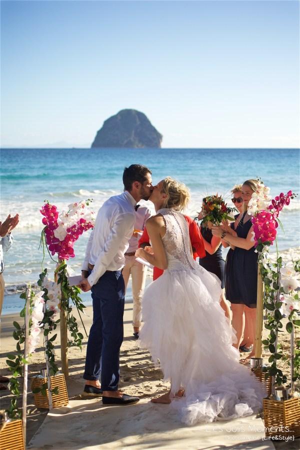 Ceremonie de mariage sur une plage de Martinique 10