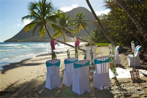 Ceremonie de mariage sur une plage de Martinique 2